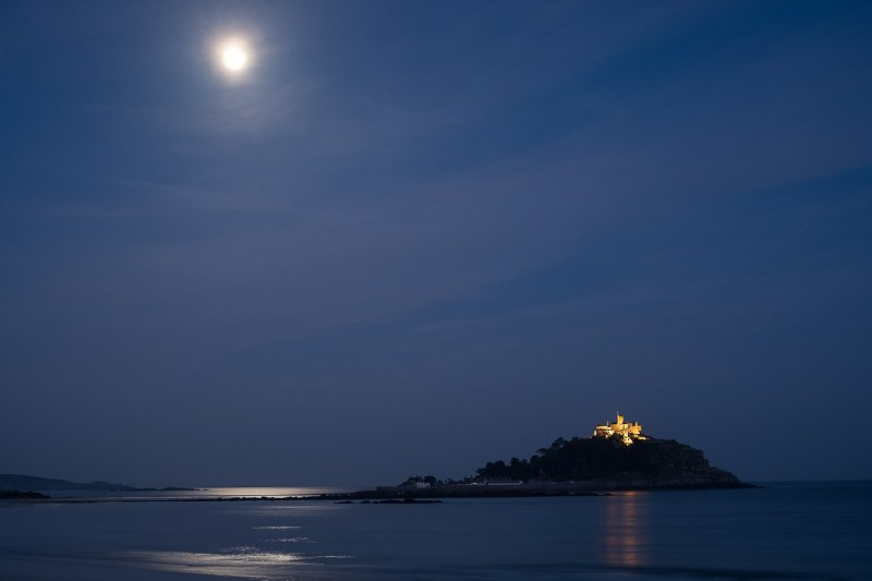 St Michaels Mount by Moonlight