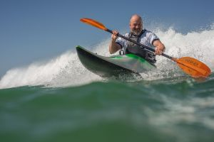 Rich Sims, new surf kayak
